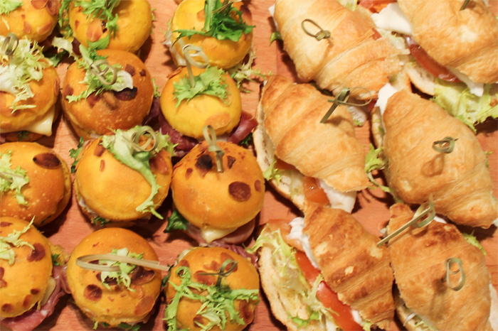 Panini alla zucca e cornetti salati